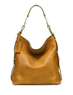 GUCCI Large North-South Leather Hobo Bag with Side Detail