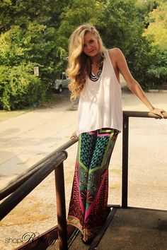 Riffraff: criss-cross tank and palazzo pants