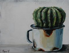 Cactus Painting, Cactus Art, Decoupage, South African Artists, Still Life Art, Watercolor Paintings, Watercolour, Vintage Pictures, Love Art