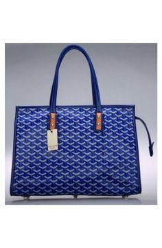 89b5d478cb24 Goyard Sac Marquises Zippered Tote Bag Dark Blue