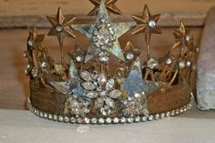 Crown tiara French Santos inspired vintage by AnitaSperoDesign, $72.00