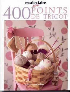 "Photo from album ""Marie Claire Idees 400 Points de Tricot"" on Yandex. Knitting Cake, Knitting Stiches, Knitting Books, Crochet Books, Lace Knitting, Knitting Patterns, Knitting Magazine, Crochet Magazine, Diy Lace Ribbon Flowers"