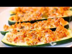 Turkey Stuffed Zucchini Boats - Clean & Delicious®