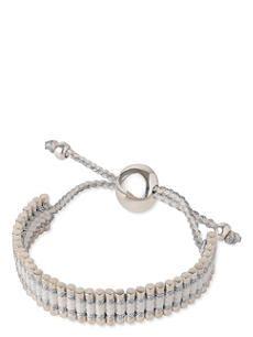 LINKS OF LONDON Friendship bracelet pewter and white