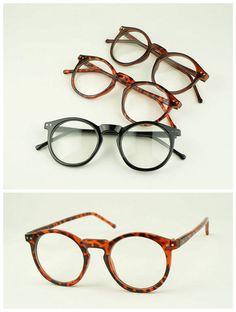 47mm Vintage Oval Eyeglass Frame Man Women Round Plain Glass Full-Rim Spectacles | eBay