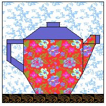 Teapots, Cups, Coffee Mugs Free quilt blocks to paper foundation piece