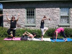 That time OCM staff spelled YOGA in Yoga poses #poseMW #MuseumWeek