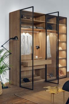 Urban Industrial Decor Tips From The Pros Have you been thinking about making changes to your home? Are you looking at hiring an interior designer to help you? Walk In Closet Design, Bedroom Closet Design, Bedroom Wardrobe, Wardrobe Design, Wardrobe Closet, Closet Designs, Master Bedroom, Glass Wardrobe Doors, Shoe Closet