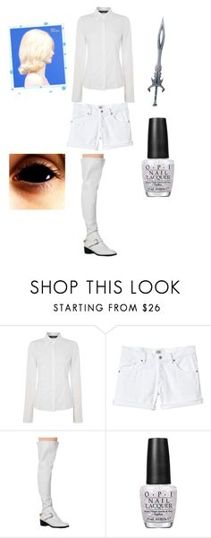"""""""Judge Angels Creepypasta outfit"""" by ender1027 ❤ liked on Polyvore featuring Oui, Rebecca Taylor, OPI and Wigs2You"""