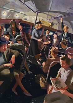 Herbert Badham (1899-1961) – The Night Bus (ca 1933)
