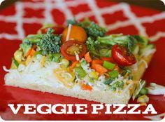 Veggie Pizza Recipe #food #dinner #recipe
