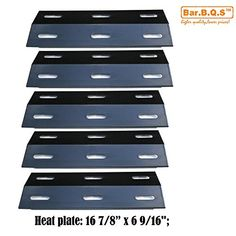 Bar.b.q.s 99341(5-pack) Stainless Steel Heat Plate, Heat Shield, Heat Tent, Burner Cover, Vaporizor Bar, and Flavorizer Bar Replacement for Select Ducane Gas Grill Models
