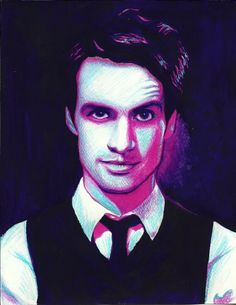 Brendon Urie. Pasteles, colores y acuarelas sobre papel canson. 2012.  Proceso: http://www.youtube.com/watch?v=gedkd8WT7OY