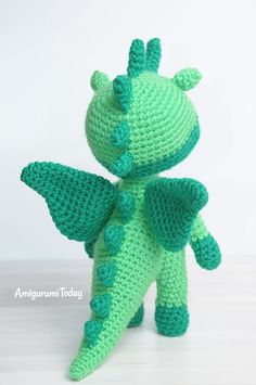 Amigurumi doll in dragon costume - Amigurumi pattern