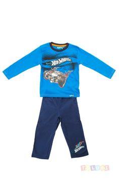 Pyjama Garçon Hot Wheels Bone Shaker bleu https://twitter.com/Tolukicom #enfant #pyjama