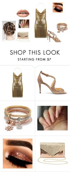 """""""Untitled #269"""" by katie88styles on Polyvore featuring Balmain, Jimmy Choo, Charlotte Russe and Huda Beauty"""