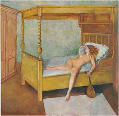 Balthus, Odalisque allongée, Oil on canvas, 88 ½ × 90 ½ inches × cm) Art And Illustration, Figurative Kunst, Magic Realism, Vintage Artwork, Contemporary Paintings, Erotic Art, Painting Inspiration, Female Art, Les Oeuvres