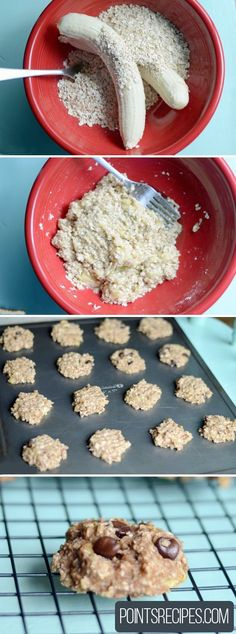 """Yes. For real. Two ingredients. (Yes, you can add other things if you want… but you don't HAVE to!) I made this up after seeing a """"healthy breakfast cookie"""" that wanted me to add eggs,"""