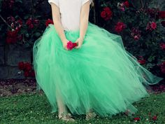 I don't care if I'm 27 years old, I want this tulle skirt/tutu to wear for Halloween and other fun occassions!