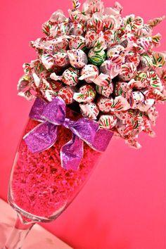 Blow Pop Lollipop Sucker Candy Land Centerpiece Vase, Candy Buffet Decor, Candy Arrangement Wedding, Mitzvah, Party Favor, Candy Creation. $44.99, via Etsy.
