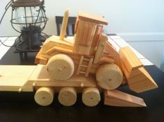 Wooden homemade toys. Functional ramps
