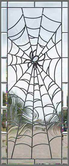 Spider web, stained glass