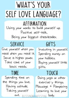 5 Self Love Languages - Blessing Manifesting