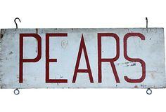 Double-Sided Pears Farm Sign on OneKingsLane.com