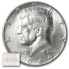 A Roll of BU//UNC 1964 Kennedy 90/% Silver Half Dollars Nice ORIGINAL bank ROLL