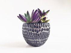 Black Ceramic Planter Ceramics and Pottery by PotteryLodge, $21.00