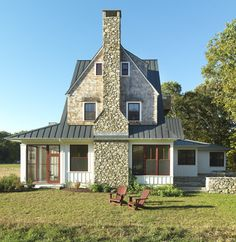 Westport, MA Residence: Exterior 3 - traditional - exterior - providence - by Union Studio, Architecture & Community Design Farmhouse Design, Modern Farmhouse, Farmhouse Style, Southern Farmhouse, Farmhouse Ideas, Farmhouse Decor, Roof Design, Exterior Design, Style At Home