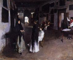 A Venetian Interior 1880-82. John Singer Sargent