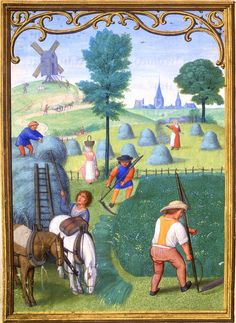 July - Da Costa Hours, in Latin Illuminated by Simon Bening (1483/84–1561) Belgium, Bruges, ca. 1515 - Pierpont Morgan Library, Da Costa hours (MS M.399)