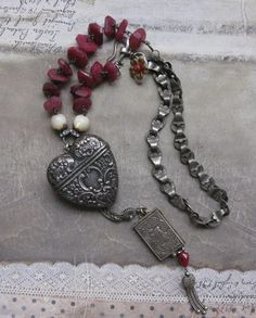 heart and soul . necklace by BaciRubati on Etsy