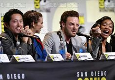 'The Walking Dead' TV series panel, Comic-Con International, San Diego, USA - 22 Jul 2016  Steven Yeun, Lauren Cohan, Ross Marquand and Sonequa Martin-Green  22 Jul 2016