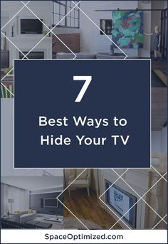 Don't let your flat screen TV ruin your apartment design! Hide your TV in style with these sneaky design ideas! Apartment Design, Apartment Therapy, Small Apartments, Small Spaces, Hidden Tv, Interior Decorating, Interior Design, Smart Design, Tiny House Design