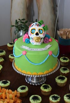 day of the dead baby shower cake.....totally Awesome looking cake