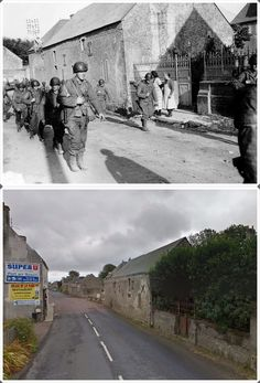 Soldati Alleati della 2a divisione di fanteria attraversano Colleville Sur Mer Bassa Normandia #NORMANDIA1944