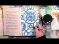 Using Inktense Pencils with a Stencil. Video from Carolyn Dube using a stencil from StencilGirl