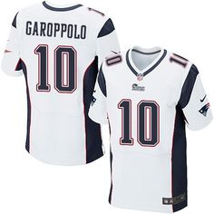 5e821a465 (Elite Nike Men s Jimmy Garoppolo White Jersey) New England Patriots Road   10 NFL