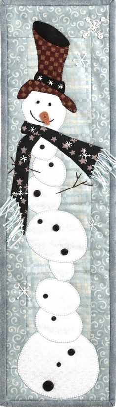 Patchabilities Tipsy Snowman