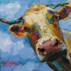 Purchase canvas prints from Claire Kayser. All Claire Kayser canvas prints are ready to ship within 3 - 4 business days and include a money-back guarantee. Canvas Art, Canvas Prints, Art Prints, Art Watercolor, Cow Painting, Cow Art, Elements Of Art, Fauna, Animal Paintings
