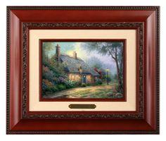 Moonlight Cottage - Brushworks (Brandy Frame) by Thomas Kinkade