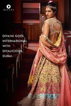 Absolutely Stunning Diva'ni Devalicious Embroidered #Lehenga. Especially Love The Pearl Outlined Open Back #Blouse!