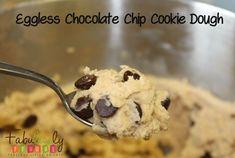 Eggless Chocolate Chip Cookie Dough Recipe.