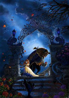 Beauty and the beast - beastly garden - walt disney storybooks - world-wide Disney Magic, Disney Pixar, Walt Disney, Disney Amor, Disney Fan Art, Disney And Dreamworks, Disney Animation, Disney Love, Disney Stuff