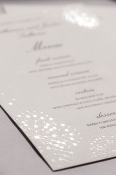 stationery by http://www.astridmuellercollection.com/katherine - here: foil stamped in subtle white