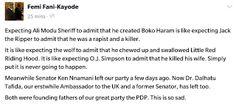 kolly Moore's blog: Femi Fani Kayode says Ali Modu Sheriff is the foun...