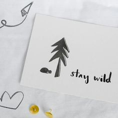 Stay Wild postcards are a good idea to get an extra surprise in your xmas gifts! Chack out other designs and Camp Life pillowcases and prints! Be adventurous, be wild! And keep it simple. Enjoy Christmas!