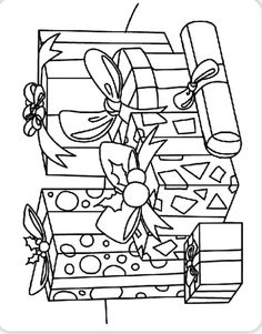 Christmas present coloring pages at Crayola.com